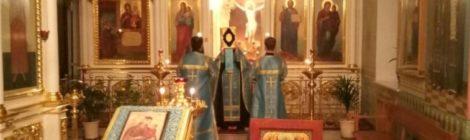 Престольный праздник в Троицком храме с. Шарапово