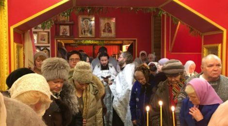 Рождественский сочельник в храме Новомучеников г. Шатура