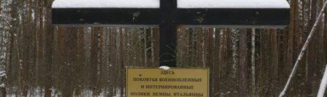 Посещение братской могилы за пос. Северная Грива