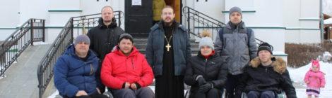 Гости из СРЦ «Чайка» г. Егорьевск в Троицком храме с. Шарапово