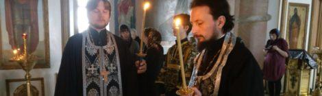 Чтение канона в Спасо-Преображенском храме с. Андреевские Выселки