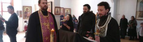 Чтение покаянного канона в Казанском храме с. Петровское