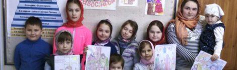 Занятия в воскресной школе храма с. Андреевские Выселки