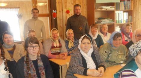 Беседа с учениками взрослой воскресной школы в пос. Радовицкий
