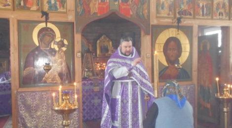 Литургия Преждеосвященных Даров в храме пос. Радовицкий