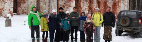 Поход воскресной школы с. Шарапово к храму в с. Курилово