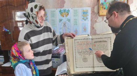 Урок со священником в воскресной школе с. Туголес