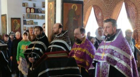Пассия в Крестовоздвиженском храме пос. Мишеронский