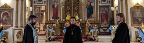 Богослужение в храме с. Андреевские Выселки