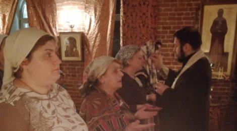 Соборование в Крестовоздвиженском храме пос. Мишеронский