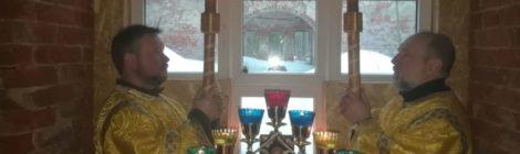 Богослужение в Богородицерождественском храме с. Курилово