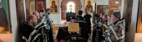 Соборное служение (пассия) в Крестовоздвиженском храме пос. Мишеронский