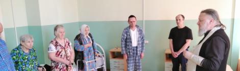 Посещение отделения сестринского ухода в д. Коробовская