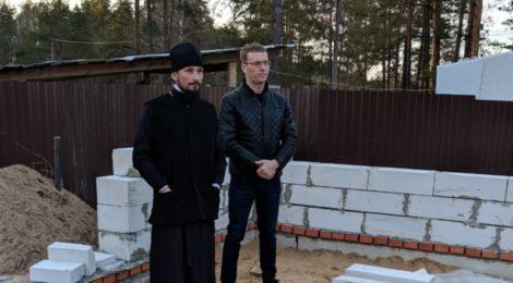 Возобновление после зимы строительства храма Иоанна Предтечи в г. Рошаль