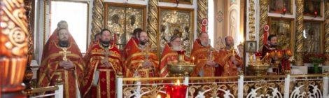 Соборное богослужение в Пятницком храме с. Туголес