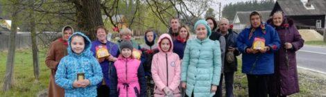 Поздравление с Пасхой пожилых прихожан храма с. Андреевские Выселки