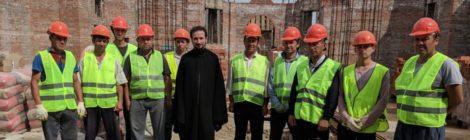 Возобновление работ на стройплощадке Никольского храма г. Шатура