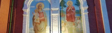 Установка архитектурной подстветки Пятницкого храма с. Туголес