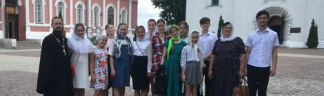 Паломничество детского духовного хора в Коломну