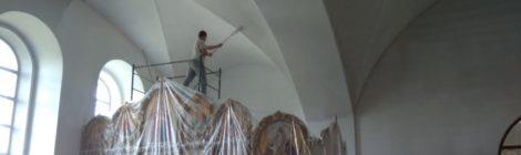 Ремонтные работы в Димитрие-Солунском храме с. Дмитровский Погост