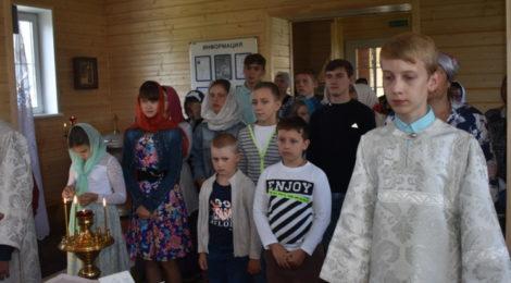 Молебен на новый учебный год в пос. Радовицкий