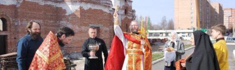 Божественная литургия в храме новомучеников и исповедников Шатурских г. Шатура