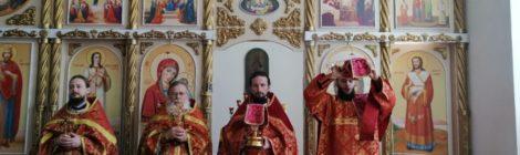 Соборное богослужение в Димитрие-Солунском храме с. Дмитровский Погост