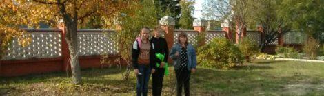Посадка деревьев на территории Покровского храма с. Пустоша