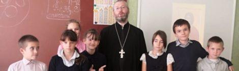 Встреча со священником в школе-интернате г. Шатура