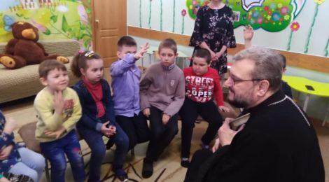 Священник Михаил Цыцаркин посетил Отделение реабилитации детей с ограниченными возможностями здоровья г. Шатуры