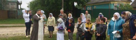 Водосвятный молебен в Голыгино