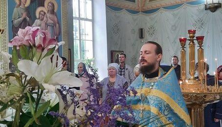 Урок Закона Божиего в Троицком храме с.Шарапово
